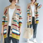 Color-block Striped Cardigan