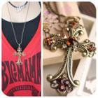 Gemstone Cross Necklace