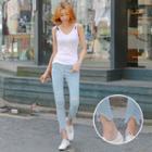 Ripped Light Blue Skinny Jeans