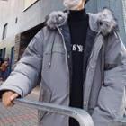 Faux-fur Trim Hood Padded Jacket