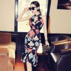 Sleeveless Floral Sheath Mermaid Dress