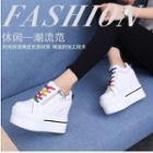 Platform Hidden Wedge High Top Lace Up Sneakers