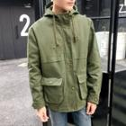 Pocketed Hooded Parka