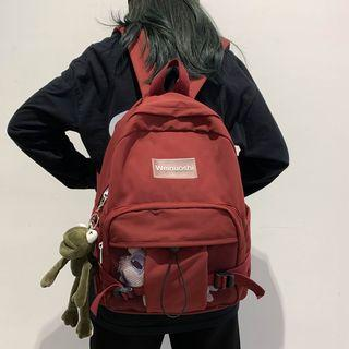 Mesh Panel Applique Backpack