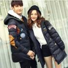 Hooded Applique Down Jacket