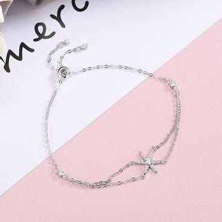 Rhinestone Star Bracelet Brs183 - One Size