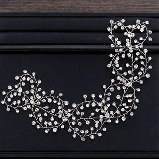 Bridal Rhinestone Hair Piece Silver - One Size