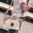 Transparent Shoulder Bag With Drawstring Bag