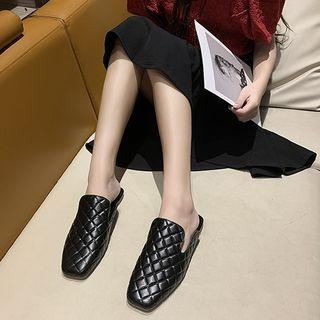 Quilted Loafer Mules