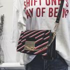 Chain Detail Striped Shoulder Bag