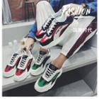 Lettering Colour Block Chunky Sneakers