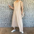 Sleeveless Maxi Hoodie Dress