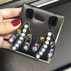 Faux Pearl Jeweled Earring