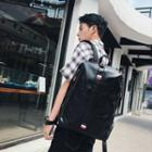 Faux Leather Backpack Black - One Size