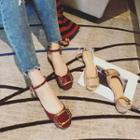 Ankle Strap Buckle Flats