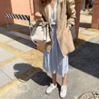 Crinkled Chiffon Midi Skirt