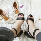 Chunky Heel Ankle-strap Sandals
