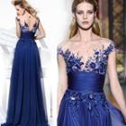 Sleeveless Lace Evening Dress