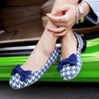 Bow Houndstooth Flats