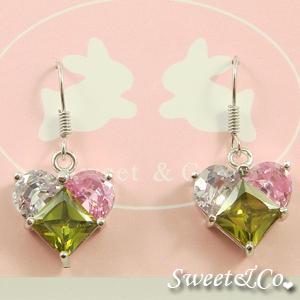Austrian Crystal Heart Earrings