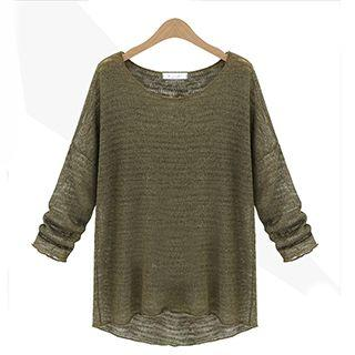 Long-sleeve Loose-fit Knit Top
