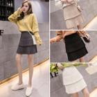 Mini Pleated Layered Skirt