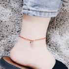 Metal Ball String Anklet