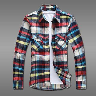 Dual-pocket Plaid Shirt