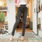 Acid-wash Skinny Jeans