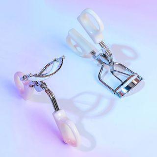 Set Of 2 : Eyelash Curler Standard Curler - White & Partial Curler - Random Color - One Size