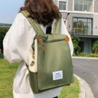 Label Applique Flap Lightweight Backpack
