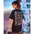 Fish-print T-shirt