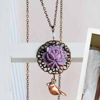Vintage Love Bird Necklace
