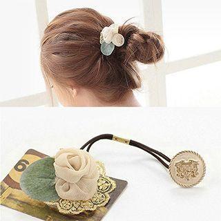 Chiffon Rose Hair Tie