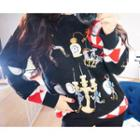Crewneck Embroidered Sweater