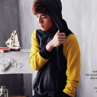 Color-block Hooded Pullover