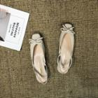 Bow Closed Toe Slingback Sandals