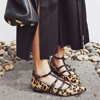 Genuine Leather Strappy Pumps