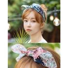 Bow Floral Hair Band