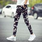 Drawstring Camouflage Slim-fit Pants
