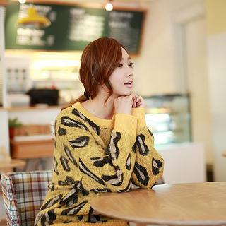 Leopard-pattern Sweater