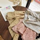 Square-neck Lace Trim Chiffon Dress