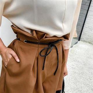 High-waist Frilled Shorts