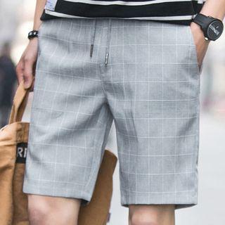 Drawstring Window Pane Shorts