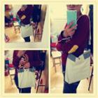 Color Block Shoulder Bag Gray - One Size