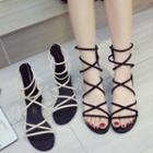 Strappy Back Zip Sandals