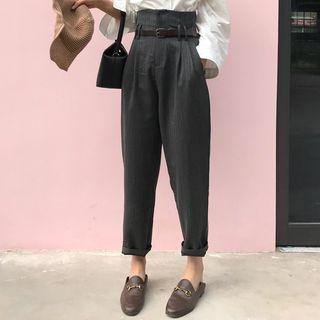 Cropped Harem Pants / Belt