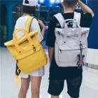 Fold Top Canvas Backpack