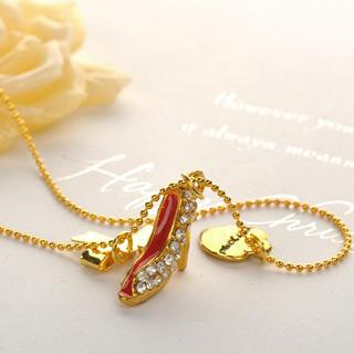 High-heel Shoe Necklace Gold - One Size