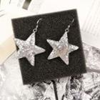 Glittered Star Drop Earrings